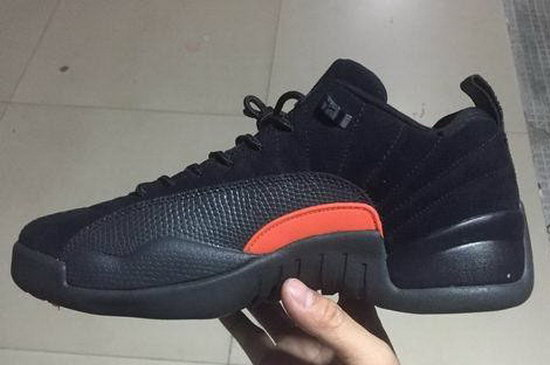 Air Jordan Retro 12 Black Orange Taiwan